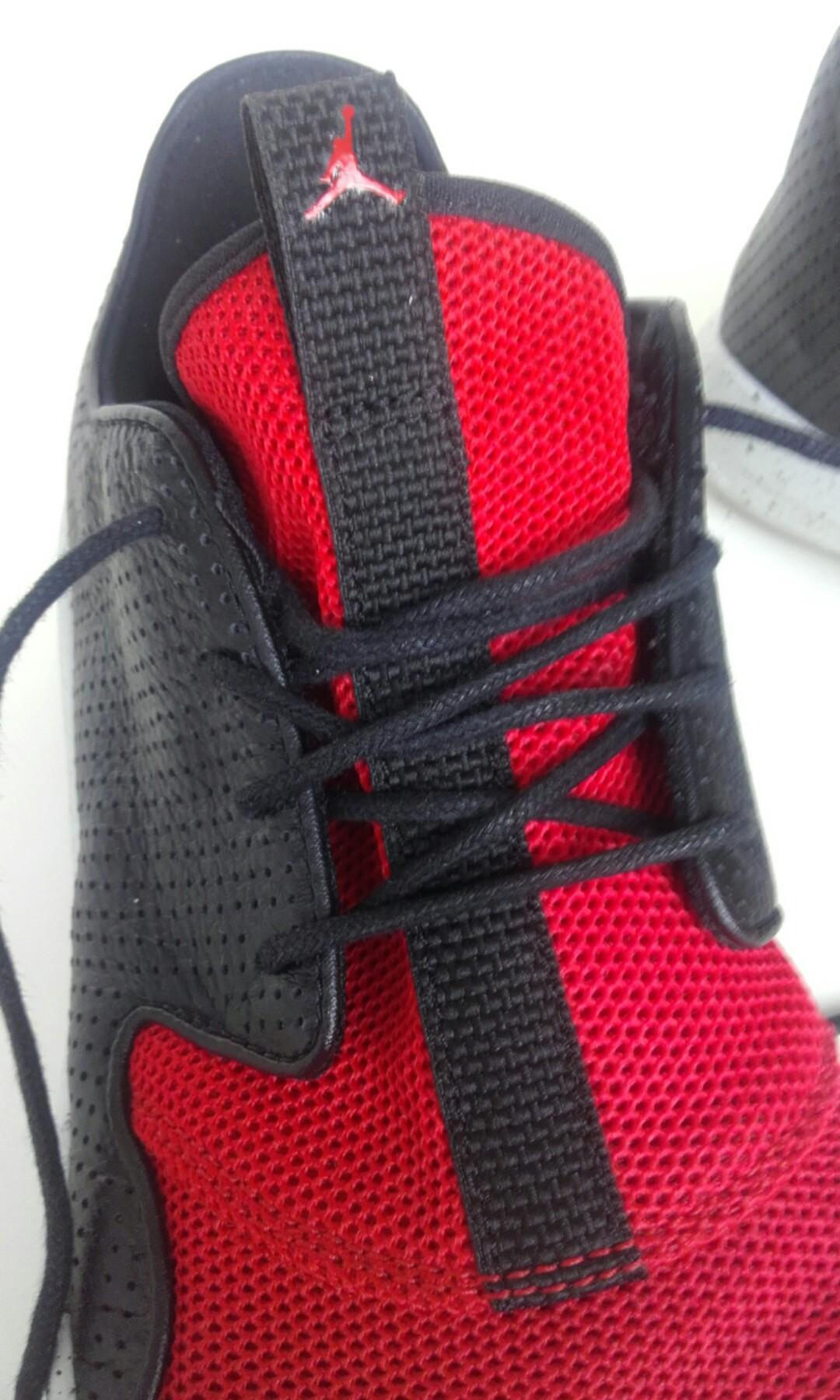 Jordan sneaker shoes AU 8 black leather red material