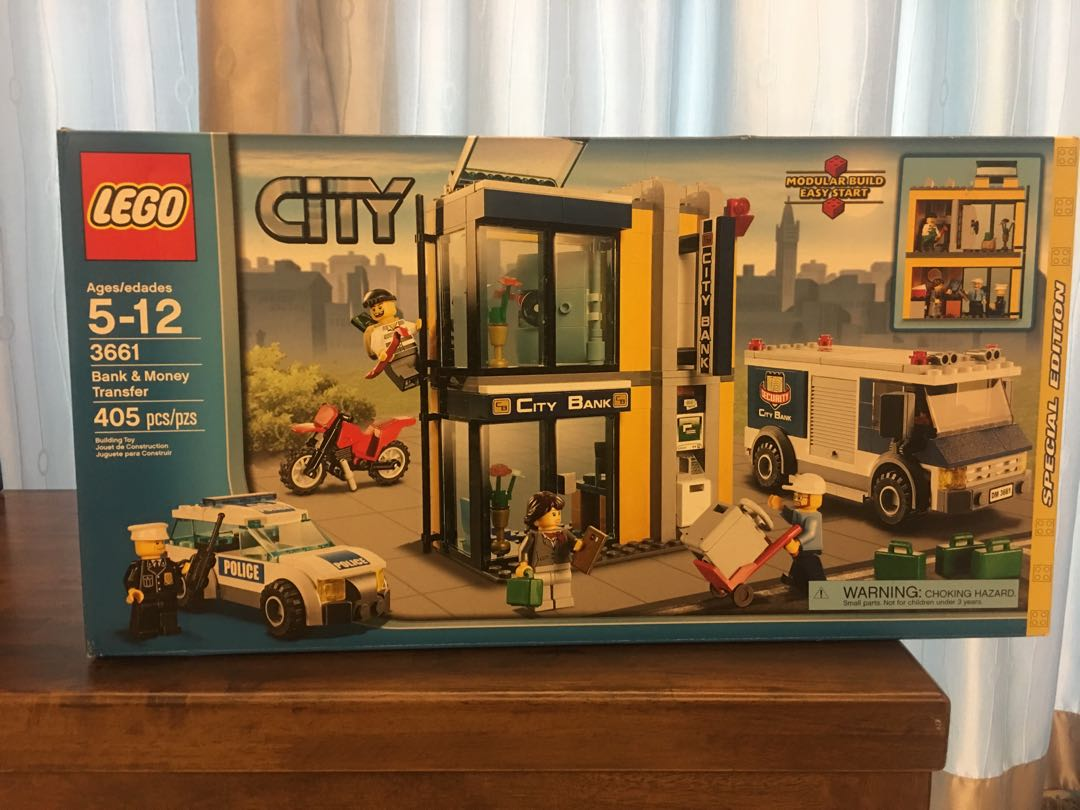 Lego City 3661 Bank Money Transfer Toys Games Bricks