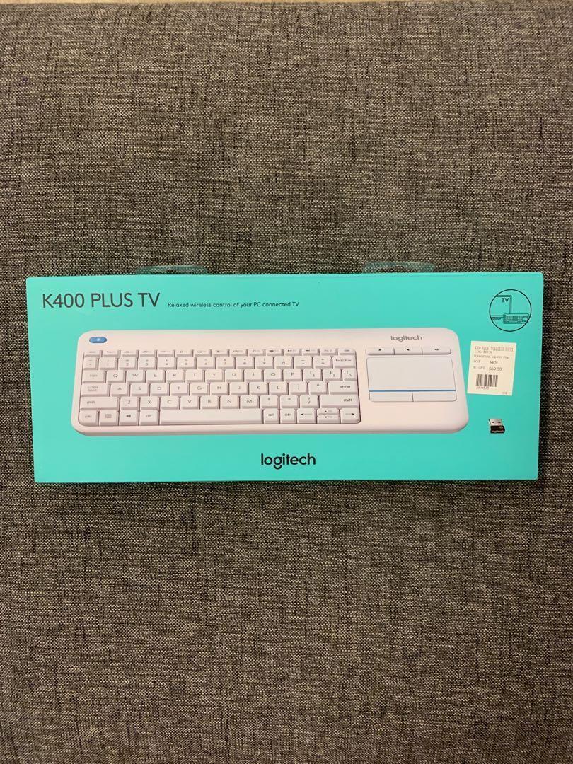 Logitech K400 Plus TV White Wireless Keyboard, Electronics