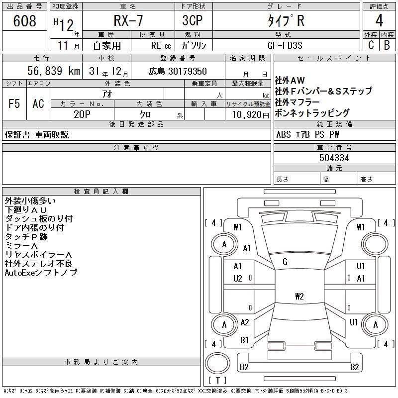 MAZDA RX7 2.0 2000(價錢面議)