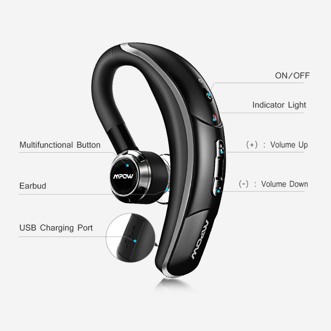b68e434f719 MPOW wireless bluetooth earphone, Electronics, Audio on Carousell