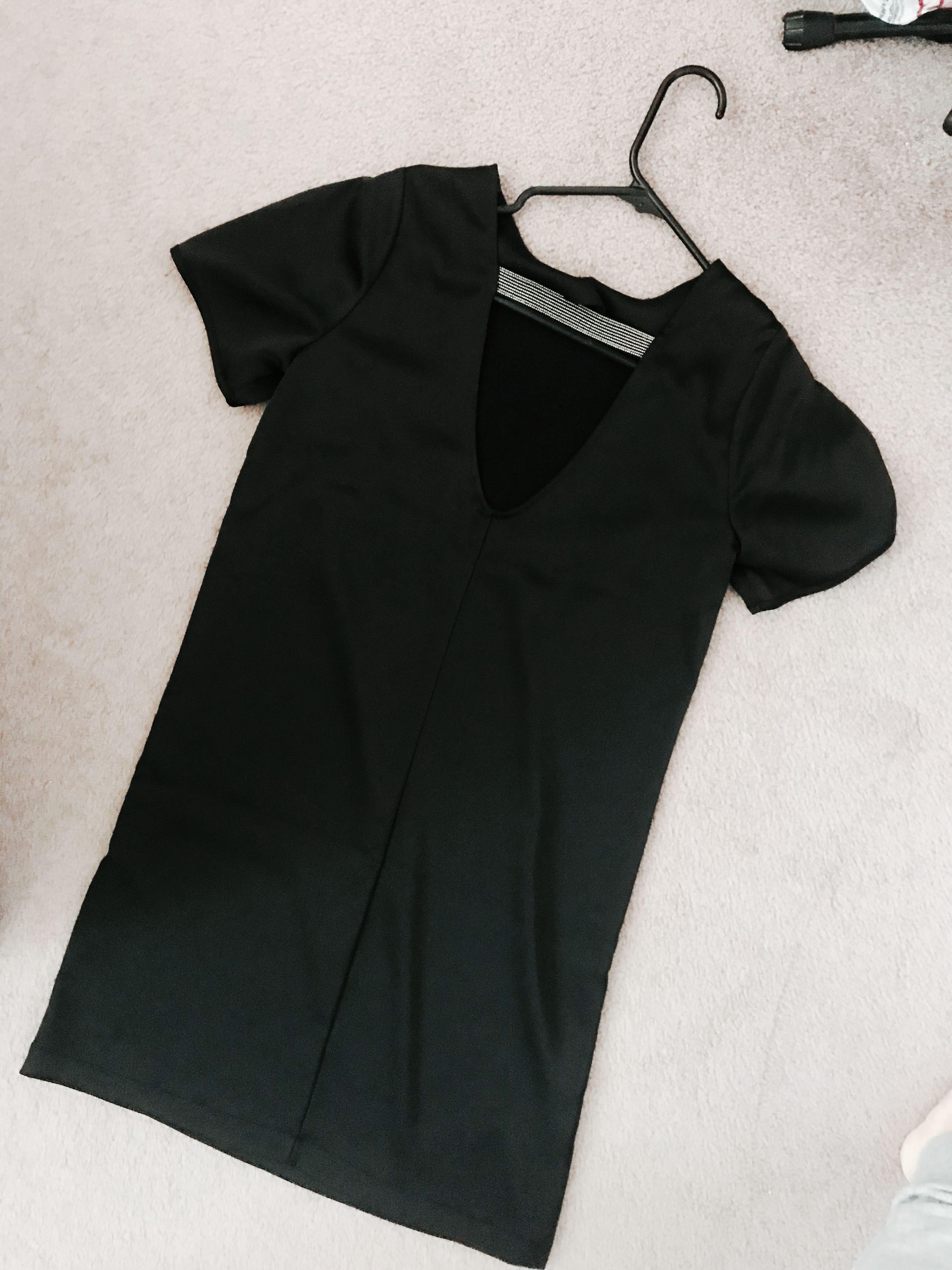 New w/ Tags, H&M Black dress w/ silver detail, Size 2