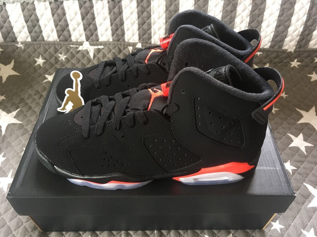 reputable site a5569 8ce24 Nike Air Jordan 6 Retro (GS) Infrared US 5.5Y 1 bred top3 royal blue ...
