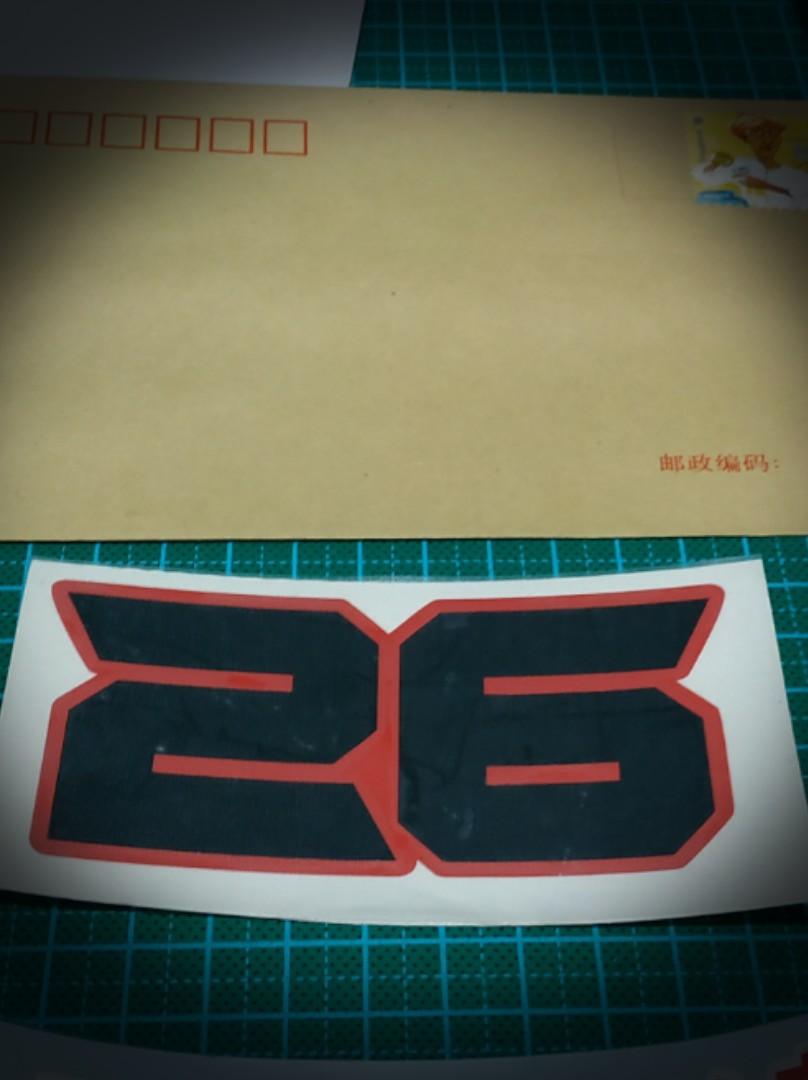 Racing Number Vinyl Sticker Decal  Motorcycle / Helmet/ Car / Van / Lorry   #hashtag stickers custom number name word customise design