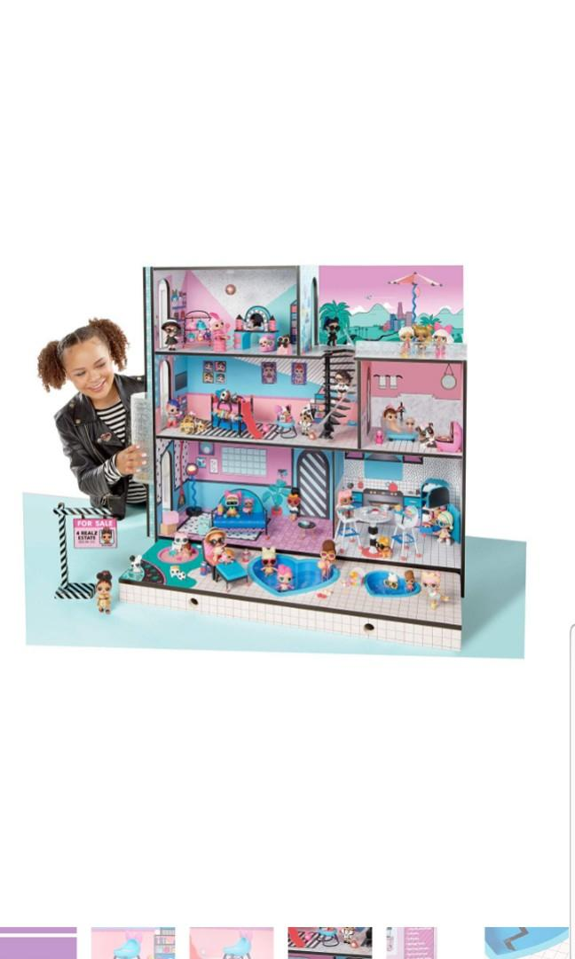 Wooden Multi Story House Dollhouse Playset For Kids New Surprise L O L