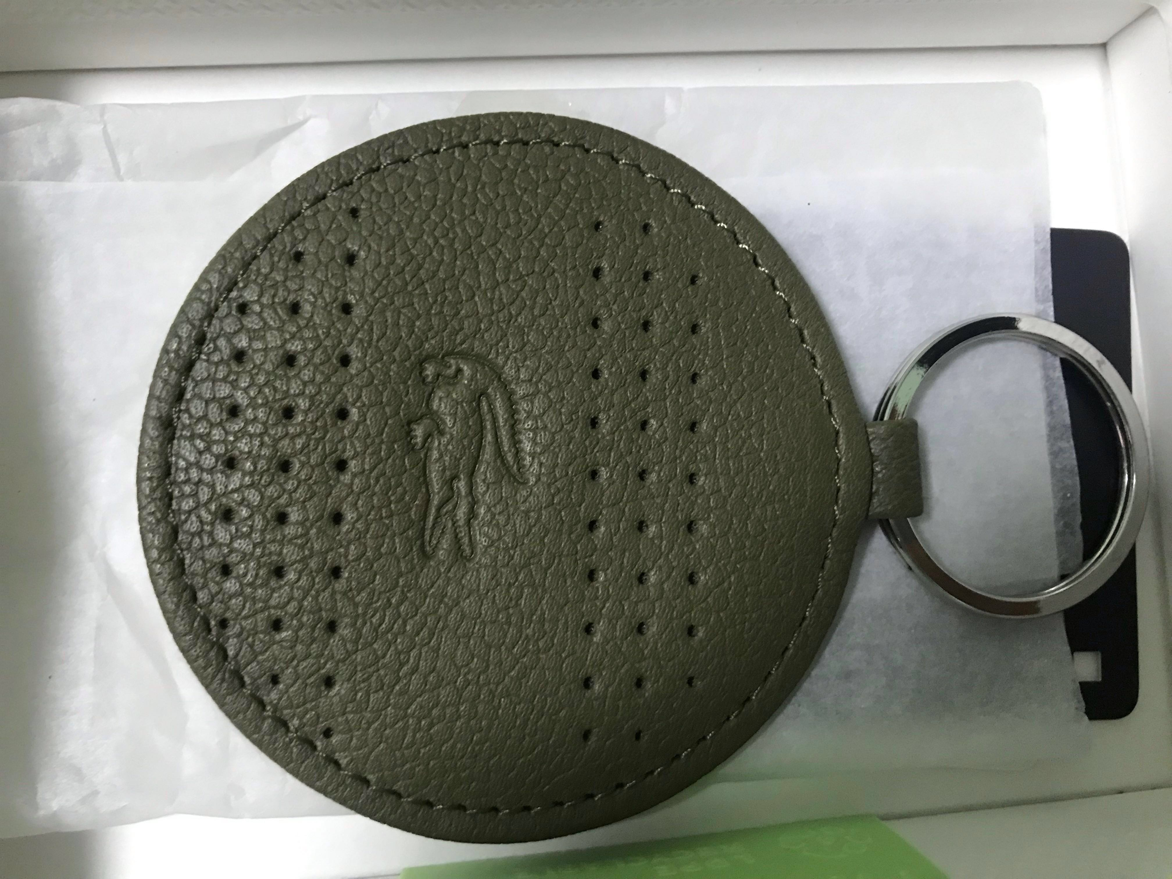 3ff86484f SALE! Brand New Authentic Lacoste leather keychain