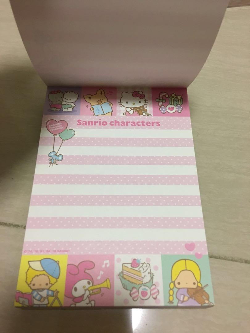 Sanrio OM 雷公 Kitty Cherry Chums Twins Stars 簿