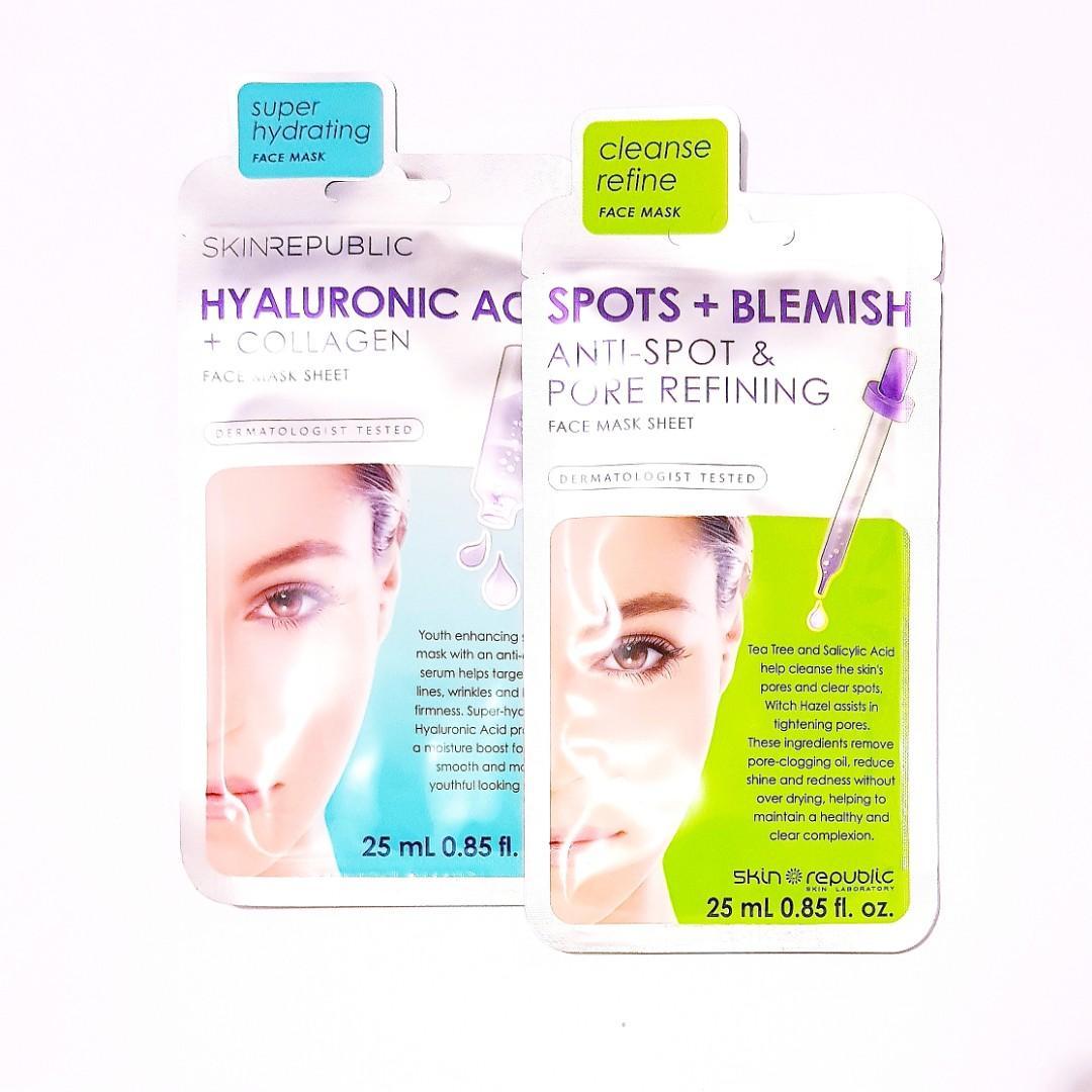 Skin Republic Dermatologist Tested Full Face Sheet Facial Mask