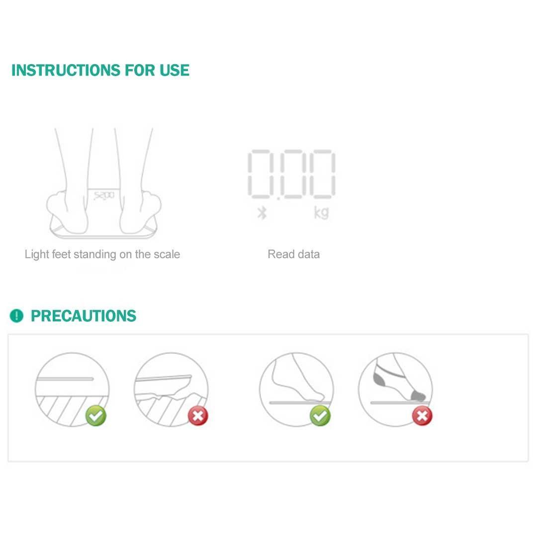 SOGA 2 x Digital Body Fat Scale Bathroom Scales Weight Gym Glass Water LCD Blue/Purple