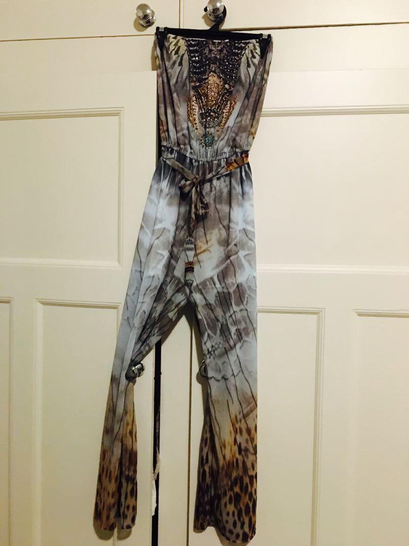 Strapless jumpsuit looks like Camilla - Size small brand new