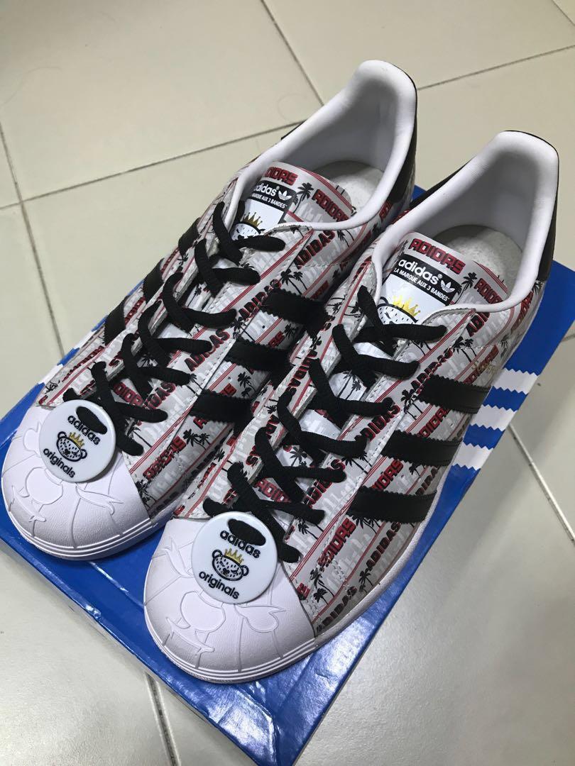 hot sale online 886aa ec911 SUPERSTAR NIGO BEARFOOT, Men s Fashion, Footwear, Sneakers on Carousell