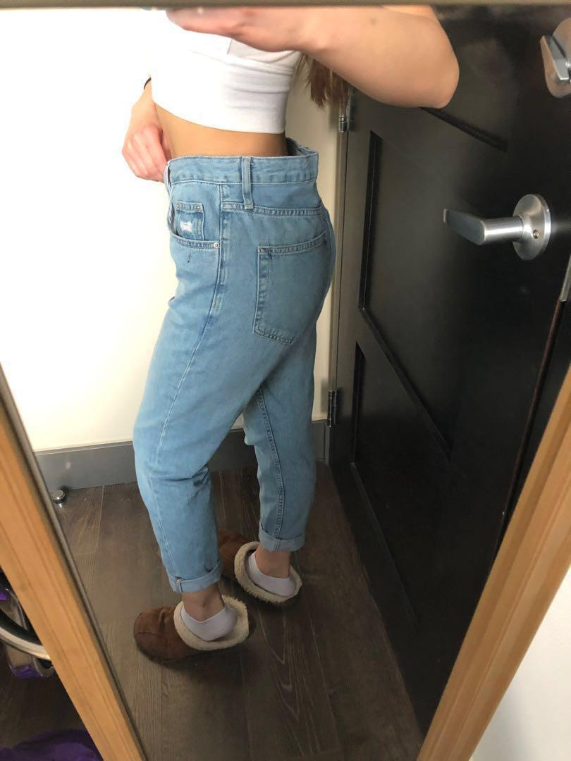 topshop high-waisted mom jeans