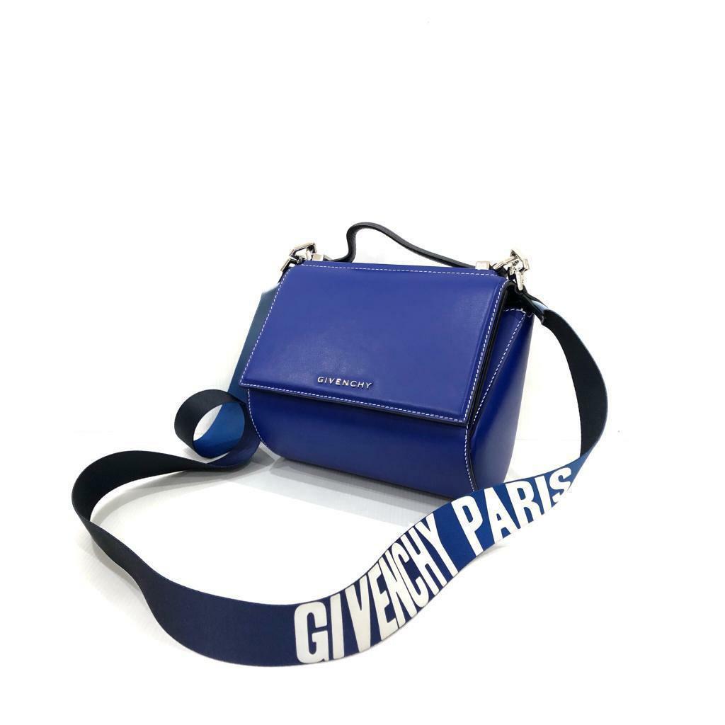 VGC Givenchy Pandora Box Mini Moroccan Blue 2017 (db, strap, care card, tag, swatch)