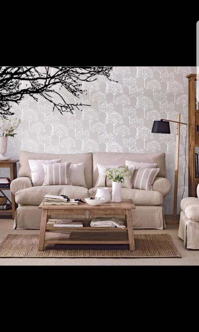 Creative Wall Stickers Removable Romantic Sofa Bedroom Black