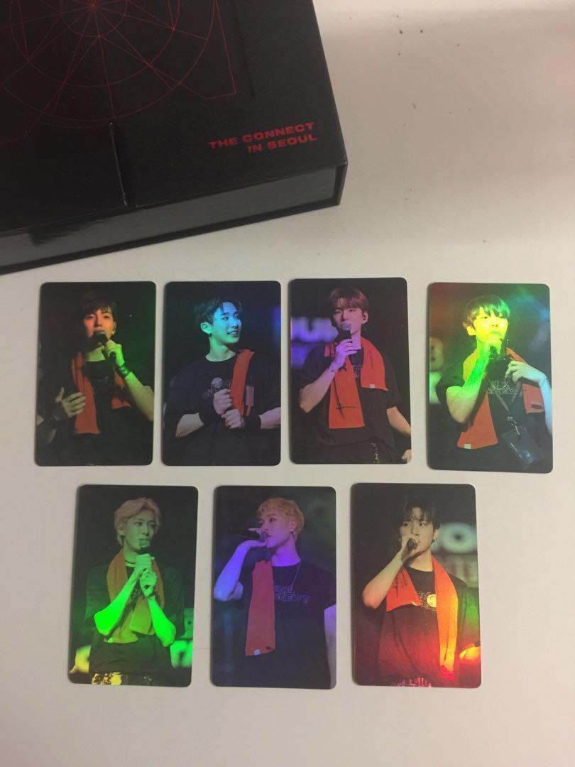 [WTS] MONSTA X THE CONNECT WORLD TOUR DVD OFFICIAL PHOTOCARDS