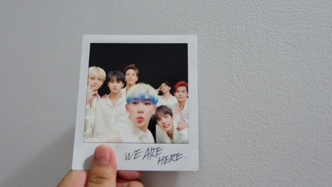 [WTS] MONSTA X WE ARE HERE VER.4 w/ polaroid and pcs