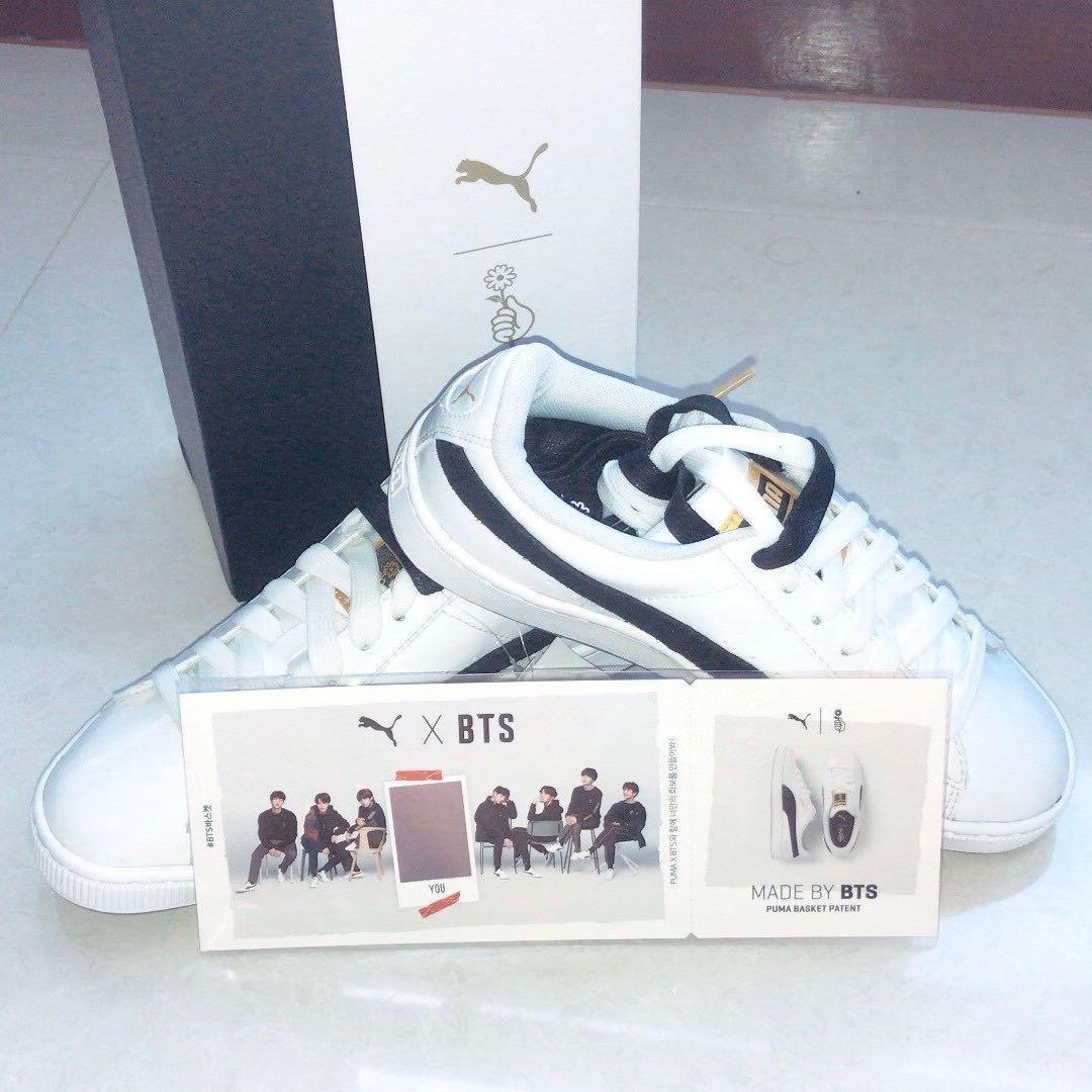 wholesale dealer 41ac2 e39a9 【WTS】BTS x PUMA Basket Patent Sneakers