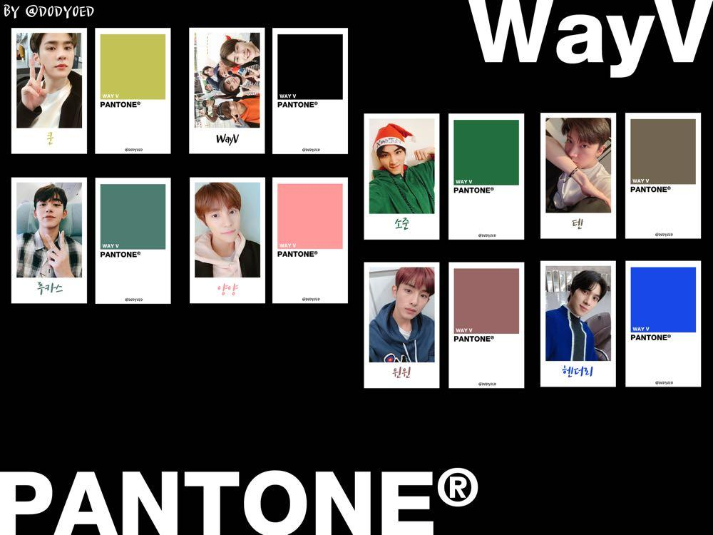 PRICE REDUCED [WTS/UNOFFICIAL] NCT DREAM NCT 127 WAYV PANTONE PHOTOCARD SET