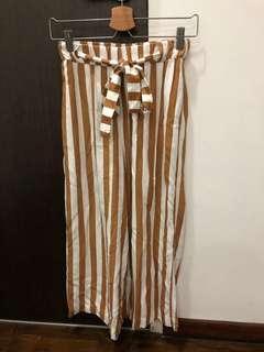 striped culottes pull&bear