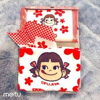 日本製牛奶妹手帕毛巾紙巾套裝(不二家)