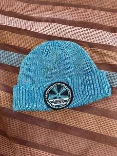 🚚 Vans 水藍色 毛帽  休閒 滑板品牌