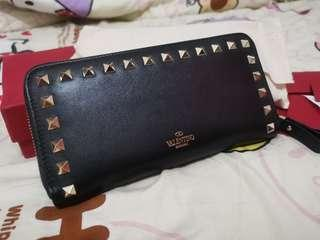 Valentino Garavani Rockstud Zip Around Wallet 長銀包 二手