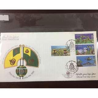 First Day Cover 1986 - Silver Jubilee of Royal Brunei Armed Forces #560
