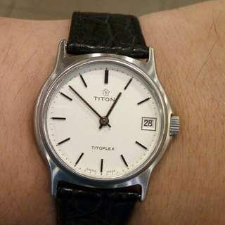 瑞士TITONI上鏈手錶