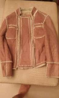 絨布雞皮外套
