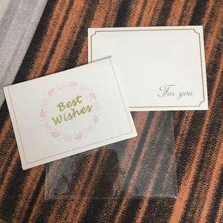 Best Wishes Mini Letter Gift Card