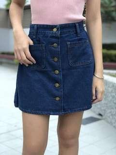 Denim Button Down Skirt (Brand new in blue and lightblue)
