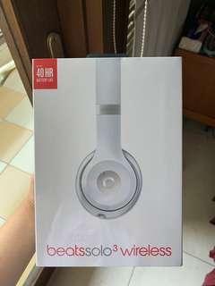 BNIB Beats Solo 3 Wireless - Silver White