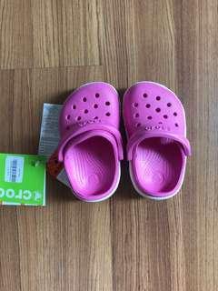 Sepatu baby Crocs pink ORIGINAL