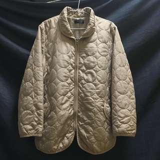 🚚 日本古著米色圈圈保暖外套