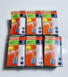 全新/osram鹵素燈泡64543 A ECO 42W 6個/搬家出清