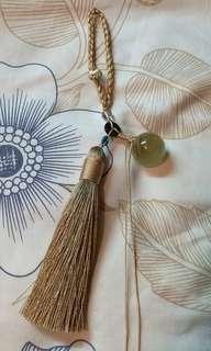 黃晶 黃水晶球 流蘇掛飾 風水運程 催財