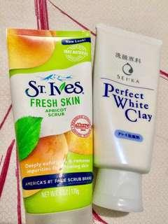 St. Ives Fresh Skin & Senka Perfect White Clay. 2 products only 100K! Expired date: 2020 & 2021