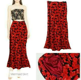 #APR10 Floral long skirt