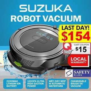 Qoo10 Exclusive Suzuka 5-in 1 Vacuum and Mopping Robot