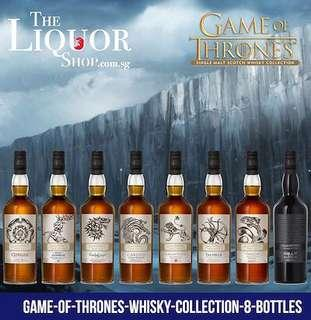 Game Of Thrones Single Malt Scotch Whisky 8 Bottles Collection (Imported)