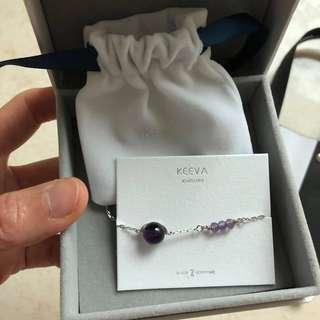 Keeva 紫水晶銀手鍊(只限將軍澳或坑口站面交)