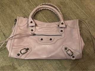 粉紫色仿皮袋