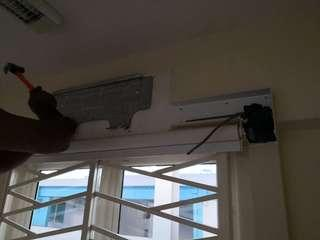 Aircon removal work