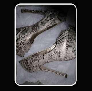 Heels snake skin
