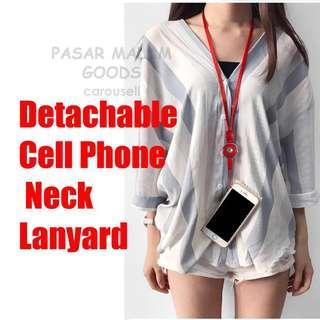 🚚 Instock Quick Release Detachable Cell Phone Neck Lanyard Black Red White