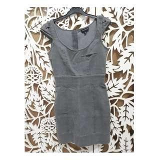 WAREHOUSE BOUGHT IN THE UK: Ware Denim dress in grey