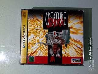 sega saturn creature shock  孖碟無花,無側紙 老懷舊遊戲