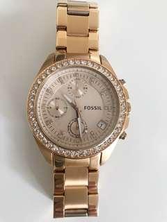Fossil Decker Chronograph Watch - Rose-gold