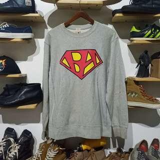 Vintage Bape Reverse Weave Crewneck Superman