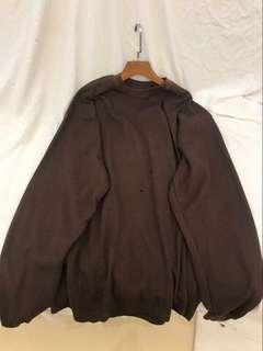 brown oversized ulzzang sweater